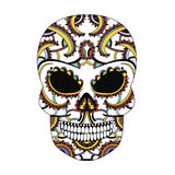 The ornate skull style zentangl, doodle Royalty Free Stock Photos