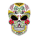 The ornate skull style zentangl, doodle Royalty Free Stock Photo