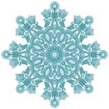 Ornate snowflake Royalty Free Stock Images