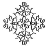 Ornate Snowflake Illustration. Abstract Snowflake Design Element Pattern Ornament Stock Photo