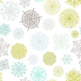 Ornate snowflake seamless background. + EPS8. Vector file Stock Illustration