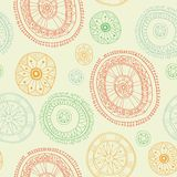 Ornate snowflake seamless background Royalty Free Stock Images