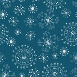 Ornate snowflake seamless background Stock Photography