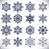 Ornate snowflake shapes Stock Image