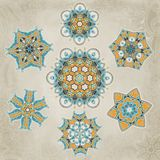 Ornate snowflakes vector set Royalty Free Stock Photography
