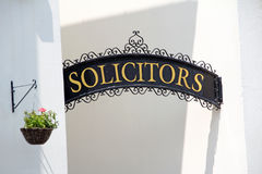 Ornate solicitors sign Royalty Free Stock Photography