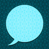 Ornate speech bubble on textured background Royalty Free Stock Photos