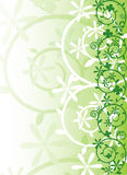 Ornate spring vector. Green abstract ornate spring vector Stock Photography