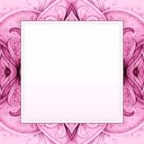 Ornate square frame. Floral photo frame. Vector Royalty Free Stock Photo