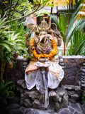 An ornate statue of Ganesha with a swastika on his hand 3 Royalty Free Stock Photo
