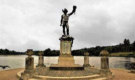 Statuue of Perseus and Medusa, Trentham Gardens, Stoke-on-Trent royalty free stock photography