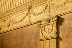 Ornate stone carvings in Kings Chamber Pompeii Stock Photos