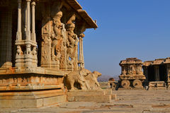 Ornate stone chariot in Hampi, India Royalty Free Stock Photos