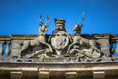 Ornate Stone Deer Royalty Free Stock Photo