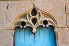 Ornate stonework over an old door Royalty Free Stock Photography
