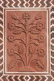 Ornate Stonework at the Taj Mahal Stock Images
