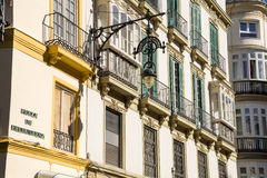 Ornate Street Lamp against apartments Royalty Free Stock Photos