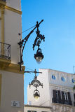 Ornate Street Lamp against a bright blue background Stock Photography