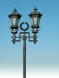 Ornate street lamp on blue sky. It's situated in the center of Moscow. DSLR Stock Photo