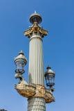 Ornate street lamp, paris. Antique street lamp on the Place de la Concorde in Paris, France Royalty Free Stock Photography