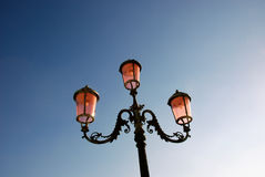 Ornate street lamp in Venice. Royalty Free Stock Photography