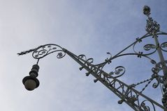 Ornate streetlamp in Barcelona. Spain Royalty Free Stock Photography