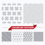 Ornate stripped geometric seamless pattern. Stock Image