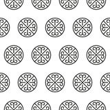 Ornate stripped geometric seamless pattern Stock Images