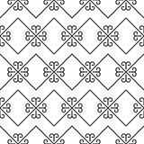 Ornate stripped geometric seamless pattern Stock Photo