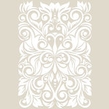 Ornate with stylized butterfly. Floral background with swirl and leaves Stock Image