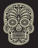 Ornate Sugar Skull stock illustration