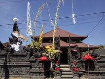 Ornate temple, the biggest Hindu festival Galungan, Nusa Penida in Indonesia Stock Photo