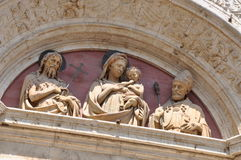 Ornate temple portal, Italian art Stock Images