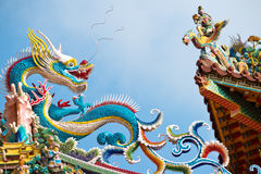 Ornate Temple Roof, Taipei, Taiwan Stock Images