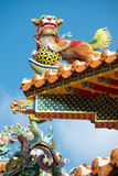 Ornate Temple Roof, Taipei, Taiwan. This image shows an Ornate Temple Roof, in Taipei, Taiwan royalty free stock photos