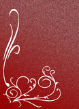 Ornate Texture. White ornament in red background with space for your text Stock Photography