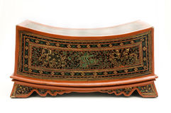Ornate Thai wooden box Royalty Free Stock Images