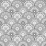 Ornate tile. Black and white geometric background Stock Image