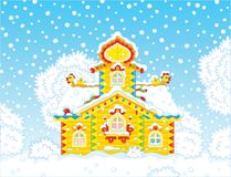 Ornate tower on Christmas Royalty Free Stock Image