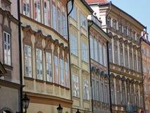 Ornate Townhouses, Prague Royalty Free Stock Image