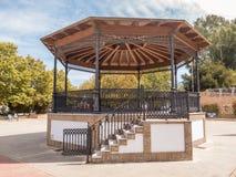Ornate traditional bandstand in Plaza de Espana, Ayamonte, Huelva, Andalucia. Stock Photos
