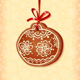Ornate traditional christmas sweet ball Royalty Free Stock Photography