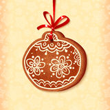 Ornate traditional christmas sweet ball Royalty Free Stock Photo