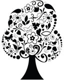 Ornate  tree. Vector black ornate illustration of tree Royalty Free Stock Image