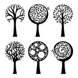 Ornate trees Royalty Free Stock Images