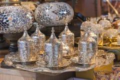 Ornate turkish tea set Stock Image