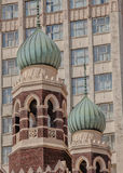 Ornate Turrets atop Jesuits Church on Baronne Street, New Orleans Stock Photography