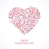 Ornate Valentines heart Royalty Free Stock Photography