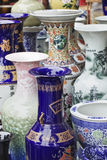 Ornate vases on a Chinese market Stock Photos