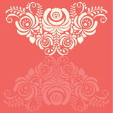 Ornate vector background in traditional Russian Stock Photos